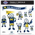 Michigan Wolverines Family Decal Set Large