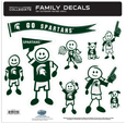 Michigan St. Spartans Family Decal Set Large