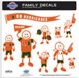 Miami Hurricanes Family Decal Set Large