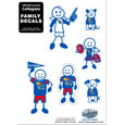 Kansas Jayhawks Family Decal Set Small