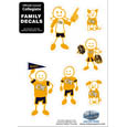 Georgia Tech Yellow Jackets Family Decal Set Small