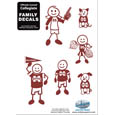 Mississippi St. Bulldogs Family Decal Set Small