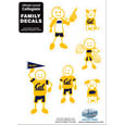 Cal Berkeley Bears Family Decal Set Small