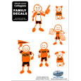 Oklahoma State Cowboys Family Decal Set Small