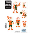 Miami Hurricanes Family Decal Set Small