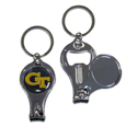 Georgia Tech Yellow Jackets Nail Care/Bottle Opener Key Chain