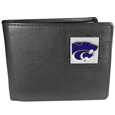 Kansas St. Wildcats Leather Bi-fold Wallet Packaged in Gift Box