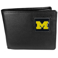 Michigan Wolverines Leather Bi-fold Wallet Packaged in Gift Box