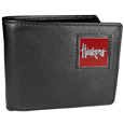 Nebraska Cornhuskers Leather Bi-fold Wallet Packaged in Gift Box