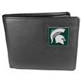 Michigan St. Spartans Leather Bi-fold Wallet Packaged in Gift Box