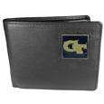 Georgia Tech Yellow Jackets Leather Bi-fold Wallet Packaged in Gift Box