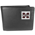 Mississippi St. Bulldogs Leather Bi-fold Wallet Packaged in Gift Box