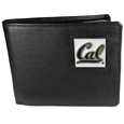 Cal Berkeley Bears Leather Bi-fold Wallet Packaged in Gift Box