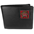Maryland Terrapins Leather Bi-fold Wallet Packaged in Gift Box