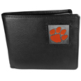 Clemson Tigers Leather Bi-fold Wallet