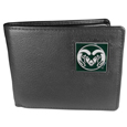 Colorado St. Rams Leather Bi-fold Wallet Packaged in Gift Box