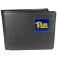 PITT Panthers Leather Bi-fold Wallet Packaged in Gift Box