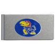 Kansas Jayhawks Brushed Metal Money Clip