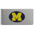 Michigan Wolverines Brushed Metal Money Clip