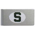 Michigan St. Spartans Brushed Metal Money Clip