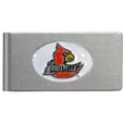 Louisville Cardinals Brushed Metal Money Clip
