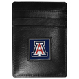 Arizona Wildcats Leather Money Clip/Cardholder Packaged in Gift Box