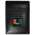 Miami Hurricanes Leather Money Clip/Cardholder