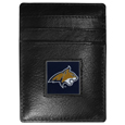 Montana St. Bobcats Leather Money Clip/Cardholder Packaged in Gift Box