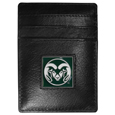 Colorado St. Rams Leather Money Clip/Cardholder