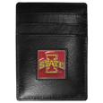 Iowa St. Cyclones Leather Money Clip/Cardholder Packaged in Gift Box