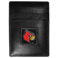 Louisville Cardinals Leather Money Clip/Cardholder Packaged in Gift Box