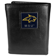 Montana St. Bobcats Deluxe Leather Tri-fold Wallet Packaged in Gift Box
