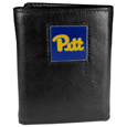 PITT Panthers Deluxe Leather Tri-fold Wallet Packaged in Gift Box