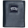 TCU Horned Frogs Leather Tri-fold Wallet