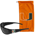 Miami Hurricanes Chrome Wrap Sunglasses and Bag