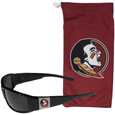 Florida St. Seminoles Chrome Wrap Sunglasses and Bag