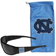 N. Carolina Tar Heels Chrome Wrap Sunglasses and Bag