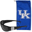 Kentucky Wildcats Etched Chrome Wrap Sunglasses and Bag