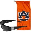 Auburn Tigers Etched Chrome Wrap Sunglasses and Bag