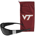 Virginia Tech Hokies Etched Chrome Wrap Sunglasses and Bag