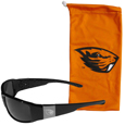 Oregon St. Beavers Etched Chrome Wrap Sunglasses and Bag