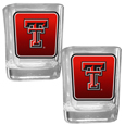 Texas Tech Raiders Square Glass Shot Glass Set
