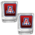 Arizona Wildcats Square Glass Shot Glass Set