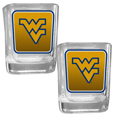 W. Virginia Mountaineers Square Glass Shot Glass Set