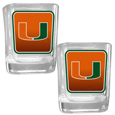 Miami Hurricanes Square Glass Shot Glass Set