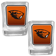 Oregon St. Beavers Square Glass Shot Glass Set