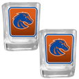 Boise St. Broncos Square Glass Shot Glass Set