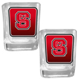 N. Carolina St. Wolfpack Square Glass Shot Glass Set