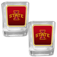 Iowa St. Cyclones Square Glass Shot Glass Set
