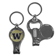 Washington Huskies Nail Care/Bottle Opener Key Chain